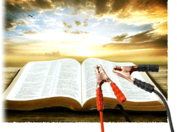 Bible and jumper cables for a new Christian