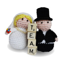 bride and groom dolls on same team - good marriage