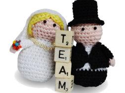 bride and groom dolls on same team - good marriage