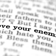 Bible text highlighting love your enemies