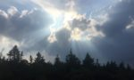 glorifying God - clouds with sun rays