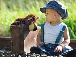 boy and stuffed animal - loyalty
