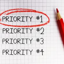 priority - priorities