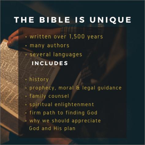the bible is unique