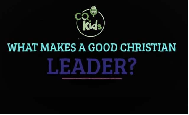 kids good Christian leader
