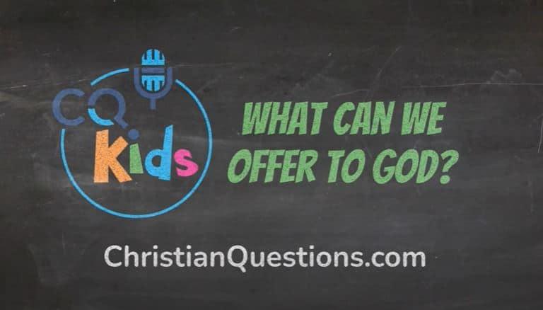 kids offer to God